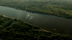 Aerial - river and forest 1 Stock Footage