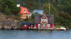 Seaside cottage 1.mov Stock Footage