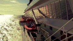 Boat at the sea - side view.mov Stock Footage