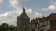 Timelapse Cloudscape over historic tower Stock Footage