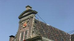 Facade historic building in Monnickendam Stock Footage