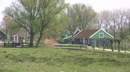 Old farm village in Holland Stock Footage