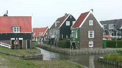 Old Dutch Fisherman Village - stock footage