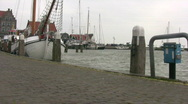 Old fisher port of Volendam Stock Footage