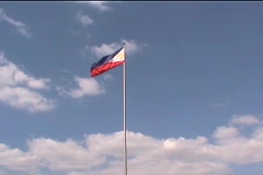 Philippine Flag Stock Footage