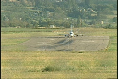 aircraft, Boeing 737 takeoff, #7 extreme long shot - stock footage
