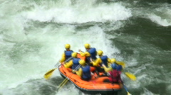 Whitewater rafting Stock Footage
