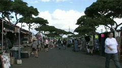 Aloha Swap Honolulu meet walk M HD Stock Footage