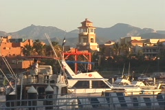 Cabo San Lucas Marina Fishing Boat Departing - stock footage