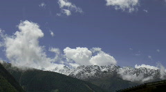 Clouds on alpine mountains Stock Footage