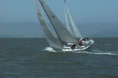 Sailboats Cross - stock footage
