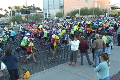Tour de Tucson 2008 bicycle race - the race starts Stock Footage