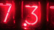 Neon numbers Stock Footage