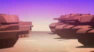 Tanks iraq (tele paralax) Stock Footage