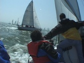 Stock Video Footage of Racing a Sailboat