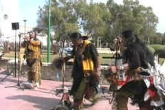 Incas dancing and music Stock Footage
