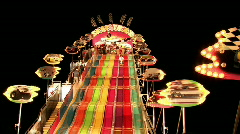 Stock Video Footage of Carnival slide night M HD