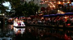 SAT riverwalk Cavaliers night M HD Stock Footage