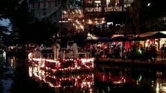 San Antonio Texas riverwalk Navy band night M HD - stock footage