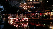 Stock Video Footage of San Antonio Texas riverwalk Navy band night M HD