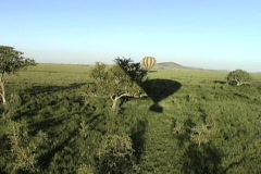 Ballooning across the Serengeti - stock footage