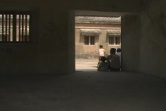 Kids playing in Taman Sari Stock Footage