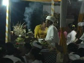 Balinese Priest in Ceremony Stock Footage