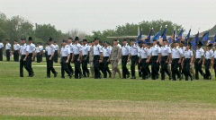 USAF Officers NCO march M HD - stock footage