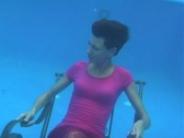 Girl Underwater 6-10b Stock Footage