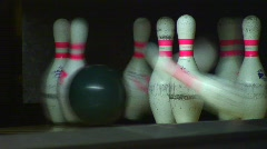 Stock Video Footage of jm381-Bowler Smash