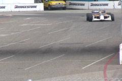 Long Beach Gran Prix - vintage formula cars race in slow motion - Corona Beer Stock Footage
