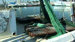 old boat trawls - stock footage