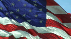 Flag normal Stock Footage