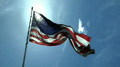 Flag part one Stock Footage