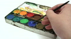 Paintbox Stock Footage