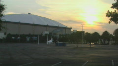 Tropicana Dome At Sunset Stock Footage