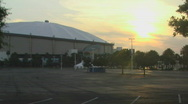 Stock Video Footage of Tropicana Dome At Sunset