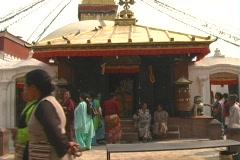 Outside Bodanath Temple Stock Footage