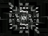 Stock Video Footage of VJ Loop 037 : Flying White Geometries