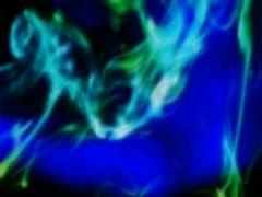 VJ Loop 039 : Glowing Smoke - Blue & Green Stock Footage