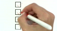 Checkboxes Stock Footage