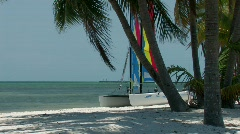 Sailboat on Key West beach Stock Footage