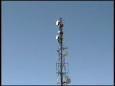 Stock Video Footage of Communications Tower