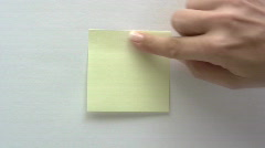 Blank Note - stock footage