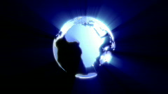 World globe,seamless loop Stock Footage