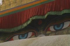 Buddha Stupa Eyes Stock Footage