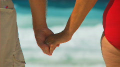 Holding hands shot transition Stock Footage