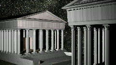 Roman buildings star night Stock Footage