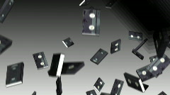 Vhs tapes falling Stock Footage