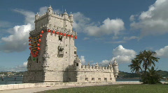 Tower of Belem Lisbon Stock Footage